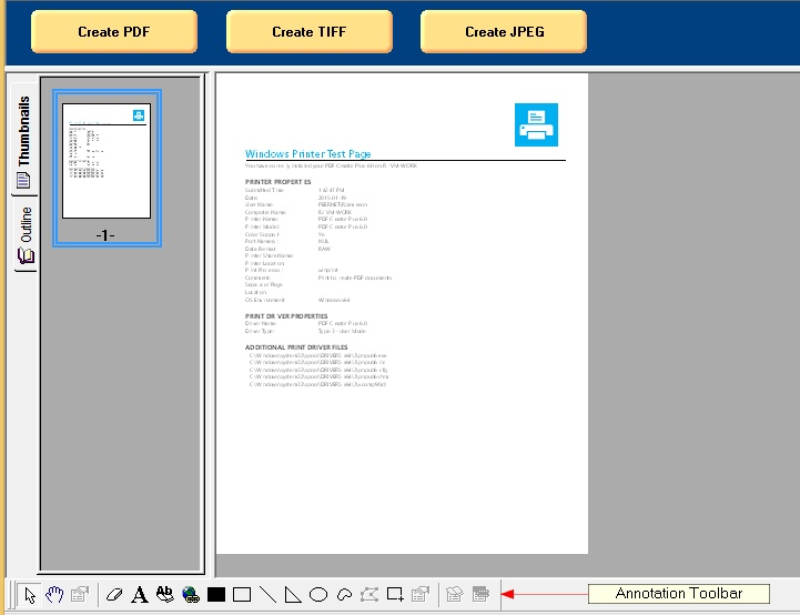 PDF Creator Plus - Annotation Toolbar