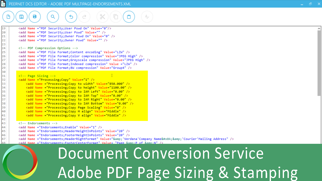 Page Sizing, Endorsements & Stamping for Adobe PDFs