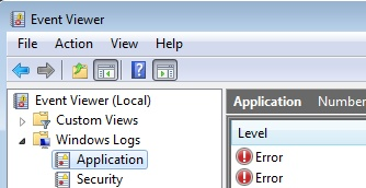 EventViewer - Application for 2008 R2