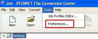 File Conversion Center - Tools - Preferences