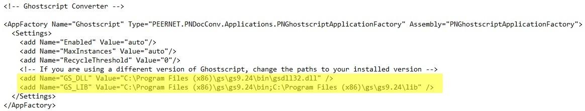 Ghostscript 9.24 Enabled DCS Configuration File