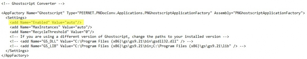 Ghostscript Enabled DCS Configuration File