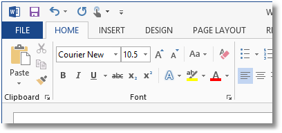 Select Landscape Text Font and Size