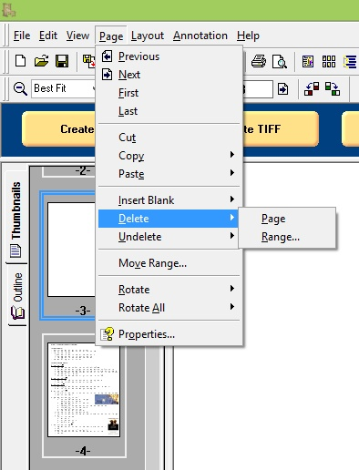 PDF Creator Plus - Delete Feature
