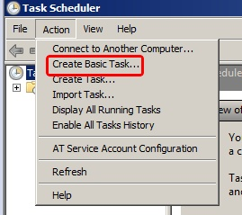 Task Scheduler- Create Basic Task