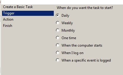 Task Scheduler- When to Start Task