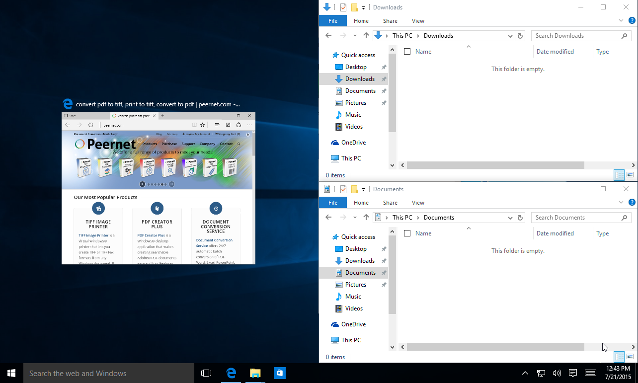 Windows 10 Arrange Windows with Snap Assist