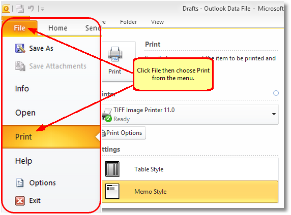 how to take email backup from outlook 2010