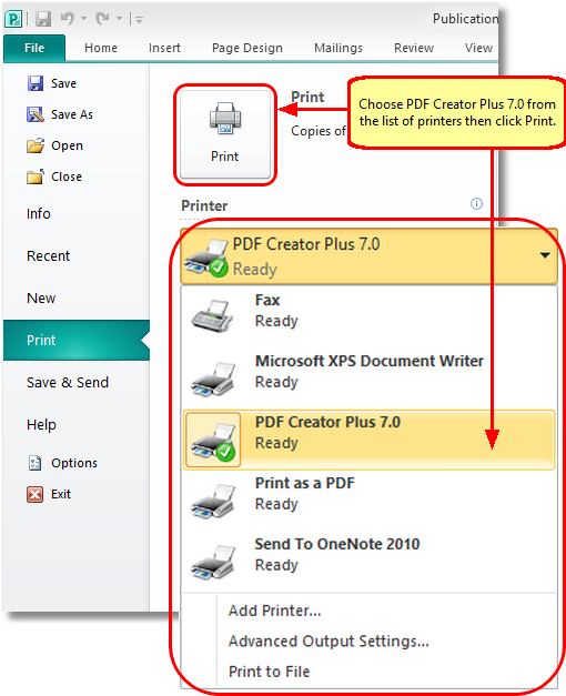 convert publisher to pdf
