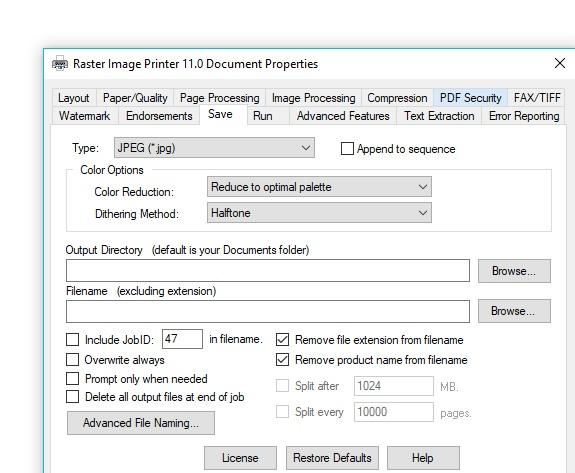 raster-printer-customizable-settings