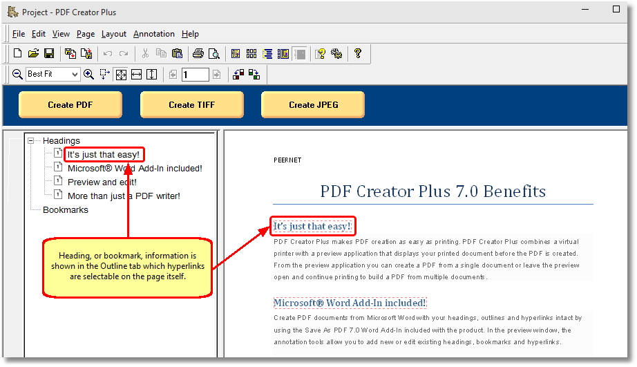 convert word to pdf with hyperlinks and bookmarks