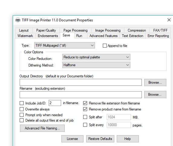 tiff-printer-customizable-settings